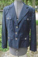 Michael by Michael Kors Wool Blend Navy Blue Button Front Nautical Look Jacket L