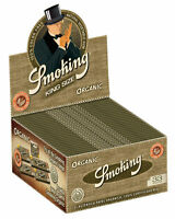 1 Box Smoking ORGANIC King Size Papers 50 x 33 Blättchen 100% aus BIO-Hanf