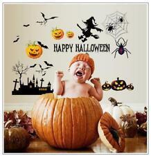Halloween Window Wall Sticker Decor Vinyl Decal Stickers Witch Pumpkin Mural