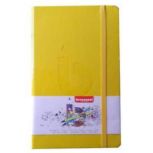 Bullet Journal 13 x 21 Cm 120 Pages 140gsm  White Paper Yellow Cover - BRUYNZEEL