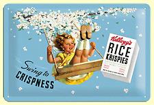 Blechschild 22191 - Kellogg´S - Swing To Crispness / Rice Krispies - 20 X 30 cm