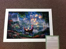 "Thomas Kinkade "" Tangled "" Disney Signed & Numbered Limited Edition Lithograph"