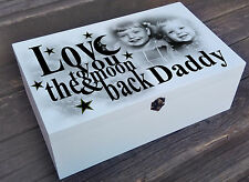 White personalised wooden box, Dad Daddy birthday fathers day or christmas gift