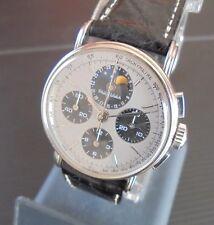 NOS Philip Watch cronografo in Acciaio calendario, fasi di luna Lemania 1883