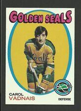 Carol Vadnais California Golden Seals 1971-72 Topps Hockey Card #46 NM