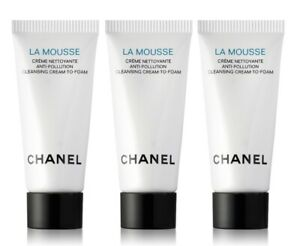CHANEL LA Mousse Anti-Pollution Cleansing Cream-to-Foam 15ml = 5ml x 3
