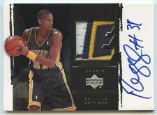 Reggie Miller 2003 04 UD Exquisite Collection Game-Used 3 Color Patch Auto /100
