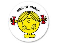 Magnet Aimant Frigo Ø38mm Madame Monsieur Mr Mme Mrs Bonheur