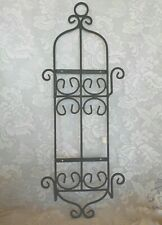 Heavy Black Wrought Iron Wall 2-Plate/Picture Rack - For Larger Plates/Platters