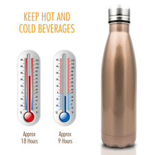 500ml Vacuum Insulated Flask Thermal Sports Chilly Water Bottle Hot/Cold