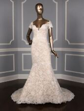 BRAND NEW! Isabelle Armstrong Glenn X Lace Trumpet Wedding Dress $6,700 Size 10