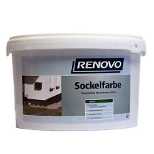 (5,59€/L) Renovo Sockelfarbe Matt 5,0 L Schiefer / Dekorativer Fassadenabschluss