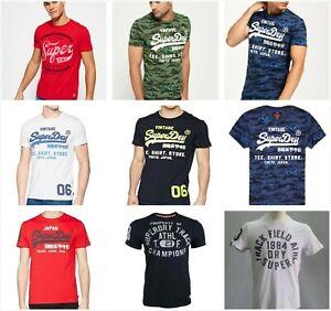 Superdry Mens Classic Logo T-shirt Vintage S/Sleeve Crew Neck Tee Tops SZ XS-3XL
