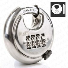 SECURIT 4 Digit Combination Discus Padlock Round Heavy Duty Shed/Gate Door Lock