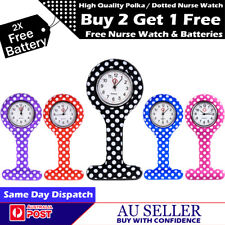 HIGH QUALITY SILICONE MEDICAL NURSE BROOCH POLKA DOTTED PENDANT TUNIC FOB WATCH