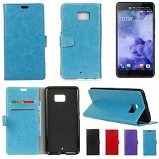 HTC U Ultra Leather Wallet Cover Soft Back Case with Stand