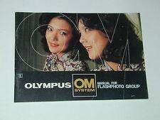 notice OLYMPUS OM FLASHPHOTO GROUP en ANGLAIS ENGLISH photo photographie