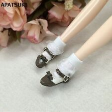2pairs/lot Pure Color Lace Doll Sock for Barbie Dolls Elastic White Black Socks