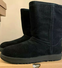 UGG CLASSIC SHORT BLACK BRAND NEW SHEEPSKIN WATERPROOF WINTER BOOTS SZ 6,1017508