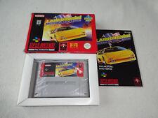 LAMBORGHINI American Challenge snes gioco completo di scatola originale e istruzioni