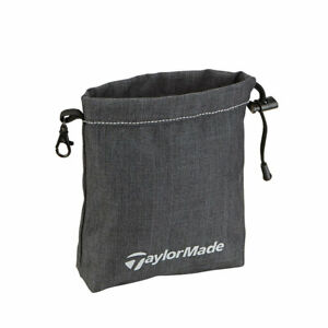 TaylorMade Golf Players Valuables Pouch Travel Gear - Charcoal/Black - 2021