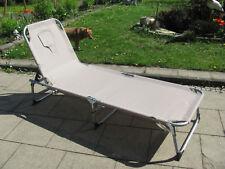 Idena Strandliege Sonnenliege Strandmatte klappbar Rückenlehne blau gestreift