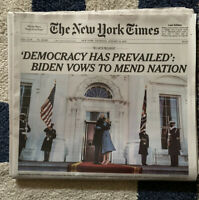 PRESIDENT BIDEN INAUGURATION KAMALA 46 New York Times Newspaper January 21 2021
