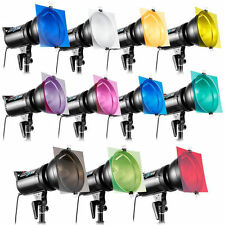 "11pcs 12""Gel Color Filter For Photography Studio Flash Speedlite Strobe Lighting"
