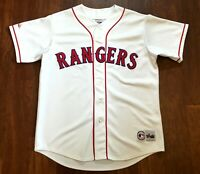 Texas Rangers Vintage Majestic MLB Baseball Jersey White Home Size XL 1990s 90s