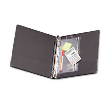 Oxford Zippered Ring Binder Pocket, 8 x 10-1/2, Clear/White