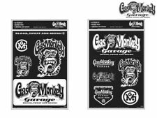 More details for gas monkey garage sticker set a4 gmg car blood sweat beers gift official