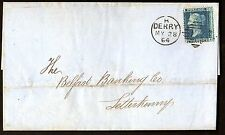 IRELAND 1864 H. DERRY TYING S.G. 45 PLATE 9 TO LETTERKENNY BELFAST BANKING CO