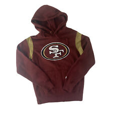 More details for san fransico 49ers hoodie nfl small burgundy