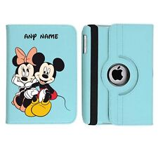 Mickey & Minnie Mouse Personalised iPad 360 Rotating Case Cover Birthday Present