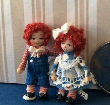 """DOLLHOUSE MINIATURE Porcelain Dollhouse Doll Ethel Hicks """"Raggedy Ann & Andy"""" #2"""