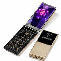 Mobile Phone Senior Flip Cover Dual Display 2.8 Inch Slim Big Key 2 Sim 128M FM