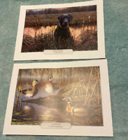 "Ducks Unlimited Prints""October Sun"" & ""Sunrise Sentinel""  11.5"" x 8.5"""