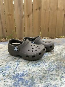 Brown Baby Crocs Size 6 Months