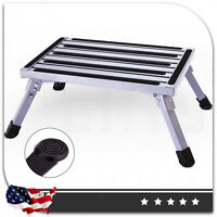 Multi-Purpose Aluminium Ladder Work Bench Stool Folding Portable Step  Non-Slip