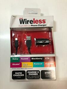 Just Wireless 1 Amp Dual USB Car Charger for Smartphones, Retail Price:$12