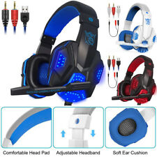 Headphones For PS4 & Switch PC 2.2mm STEREO Mic LED Gaming Headset Earphone
