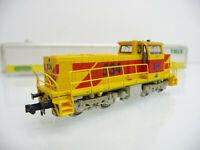 Minitrix N 1:160 12218 Diesellokomotive MaK DE 1002, Achsfolge B´B´, gelb/rot