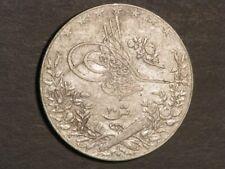 EGYPT 1914H (AH1327/Yr 6) 20 Qirsh Silver Crown VF