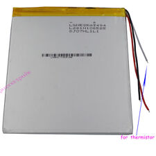 3.7V 4000mAh Polymer Li Battery 3 wires for thermistor For Tablet PC GPS 3494105