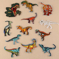 12pc Lot Dinosaur Embroidered Patches Sew Iron On Clothes Badge Fabric Applique