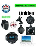 Uniden DASH CAM DUAL LENS CAR CAMERA 720° HD 1080P OLED WiFi APP MIRROR MOUNT 4K