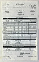 2011 Disney tv show GOOD LUCK CHARLIE set used CALL SHEET~Season 2, Episode 14