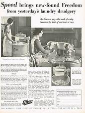 1920's BIG Vintage Thor Washing Machine Electric Washer Laundry Photo Print AD