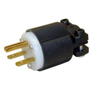 NEMA 6-15P Straight Electrical Plug 3 Wire, 20 Amps, 220V 230V 250V