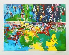 "LEROY NEIMAN ""ASCOT FINISH"" 1974 